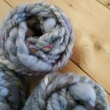 plastikfreies Geschenkband aus Wolle, handgesponnen, 5 Meter - grau