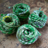 plastikfreies Geschenkband aus Wolle, handgesponnen, 5 Meter - grün