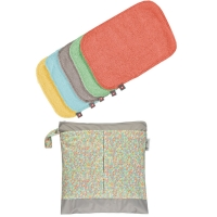 Pop-In Universaltuch Bamboo *10er + Wetbag - Pastels