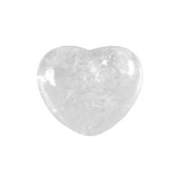 Bergkristall Steinherz bauchig 45 mm