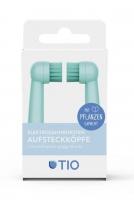 Tiomatic Aufsteckköpfe für Elektrozahnbürsten - auf Pflanzenbasis (Lagune / Kiesel)