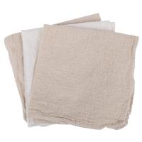 Redecker Haushaltstuch 3er Set naturfarben (mit recycelter Baumwolle)