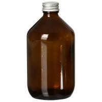 FAIR SQUARED Glasflasche braun 500ml