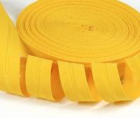Baumwoll-Schrägband 20mm gelb