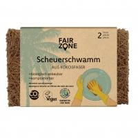FAIR ZONE Scheuerschwamm 2er - kompostierbar