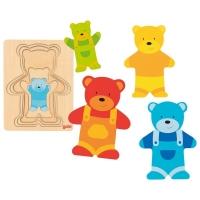 Goki Schichtenpuzzle Bär - 5 Teile